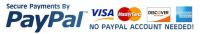 We accept credit card and PayPal payments securely.